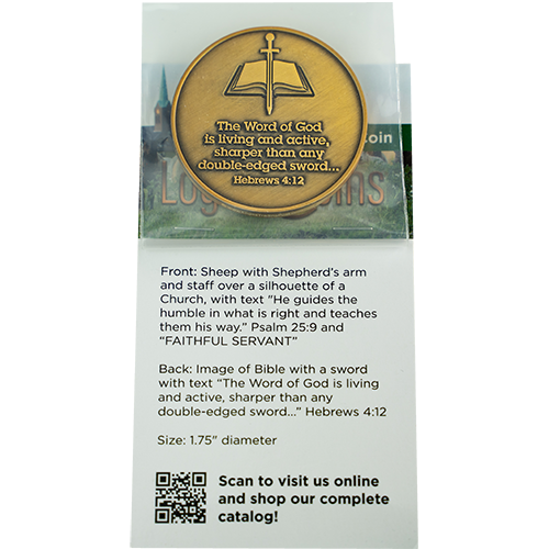 Pastors Coin, Pastor Appreciation Gift, Preacher Gifts, Humble Servant Token for Ministers, Youth Pastors, Bishops, and Priests, Christian Religious Antique Gold Plated Prayer Token Gift