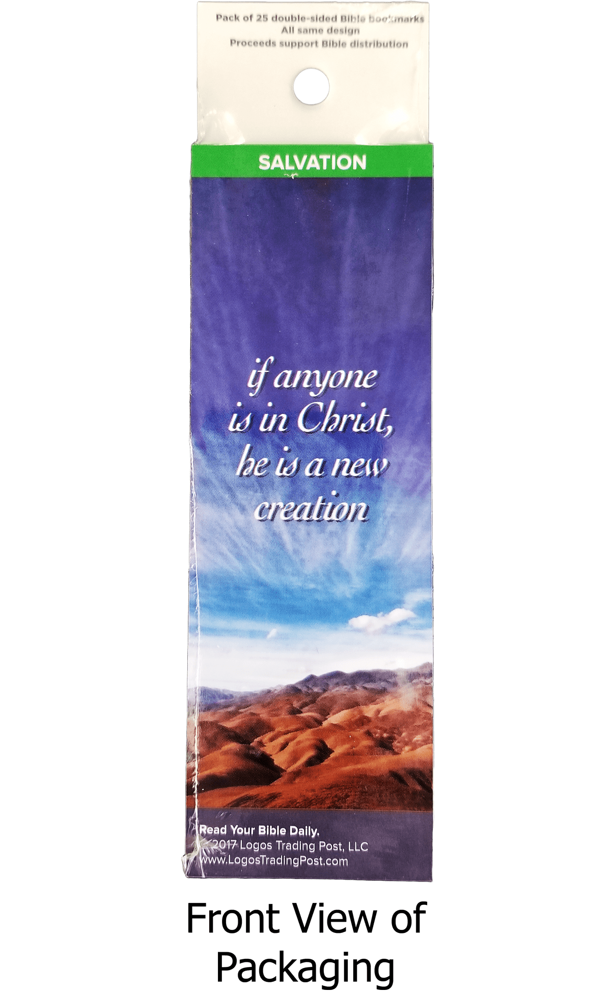 If Anyone if in Christ, He is a New Creation Bookmarks, Pack of 25 - Logos Trading Post, Christian Gift