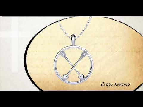 360 degree view of Crossed Paths Friendship Sterling Silver Pendant