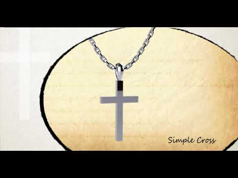 360 view of Simple Cross Sterling Silver Necklace