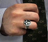 Logos Jewelry - In His Image, Sterling Ring (Mens) - Logos Trading Post, Christian Gift