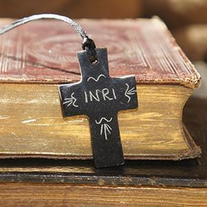 Cross Necklace - INRI - Logos Trading Post, Christian Gift