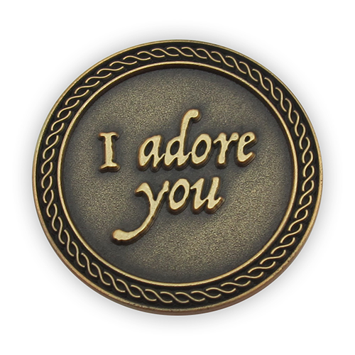 "Front: ""I adore you"""