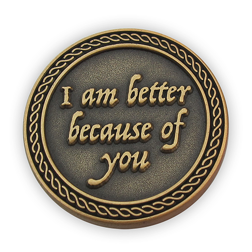You Complete Me Romantic Love Expression Antique Gold Plated Coin