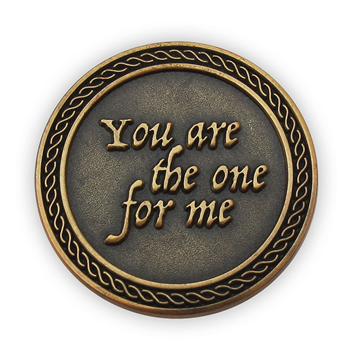 "Front: ""You are the one for me"""