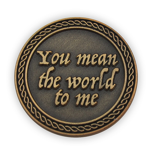 "Back: ""You mean the world to me"""