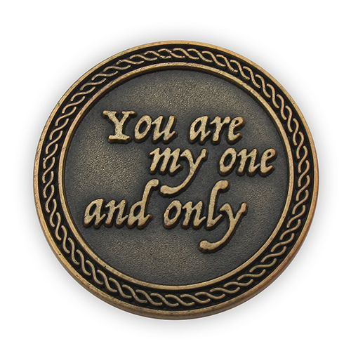 "Front: ""You are my one and only"""