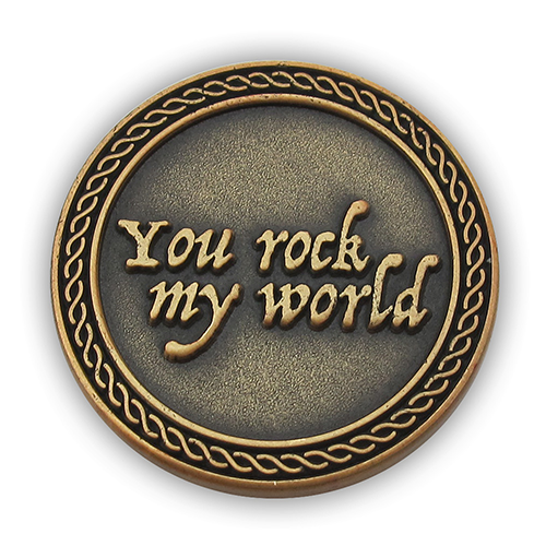 "Front: ""You rock my world"""
