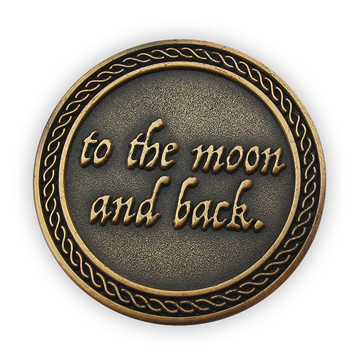 "Back: ""to the moon and back."""