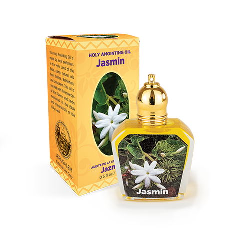 bottle of Jasmin anointing oil with box