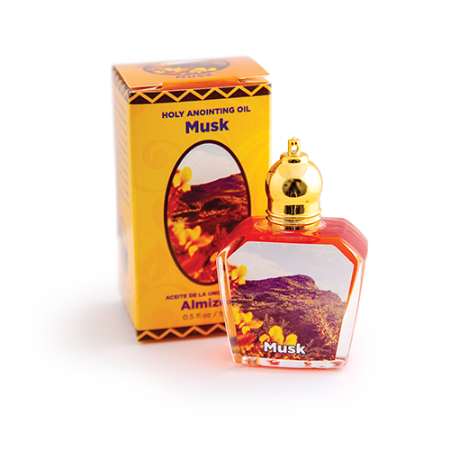 bottle of musk anointing oil with box