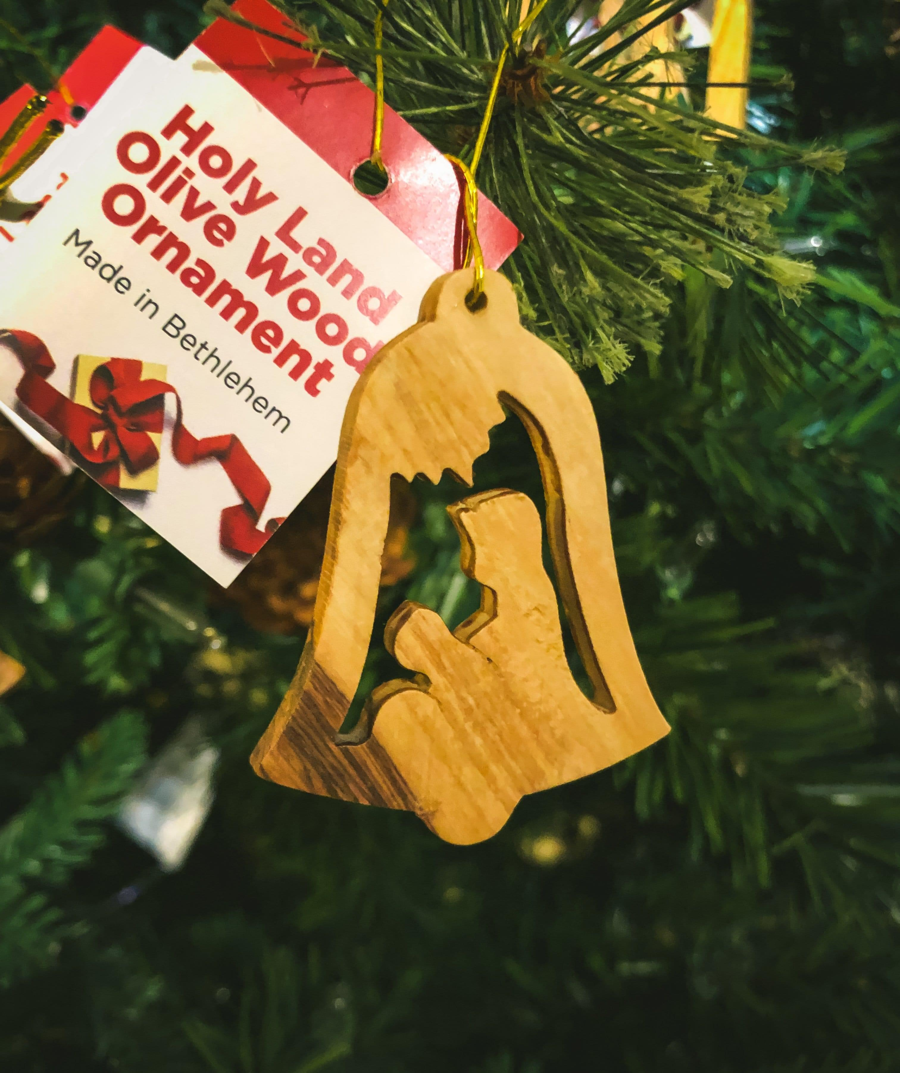 Holy Land Olive Wood Ornament - Value Pack of All 6 - Logos Trading Post, Christian Gift