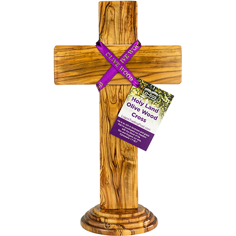 "12"" Olive Wood Standing Cross"