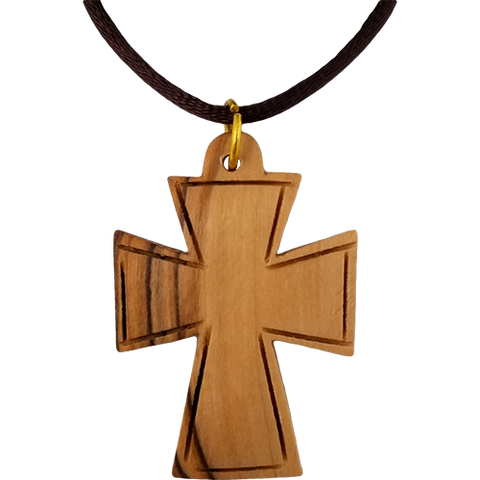 Olive Wood Large Celtic Cross Necklace
