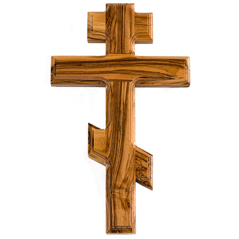 Saint Andrew Cross, Olive Wood Hanging Wall Cross, Wood Wall Cross Décor, Gifts from Holy Land of Israel