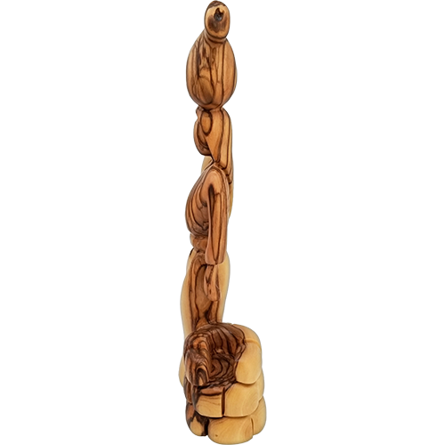 Holy Land Olive Wood Statue - Woman at the Well, 9""