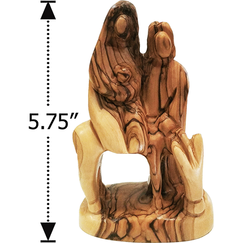Holy Land Olive Wood Statue - Flight to Egypt