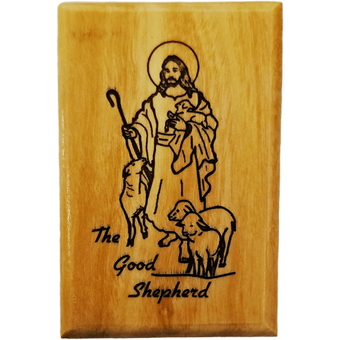 Good Shepherd Olive Wood Magnet