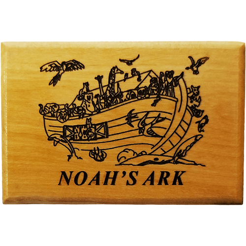 Holy Land Olive Wood Magnet - Noah's Ark with Birds
