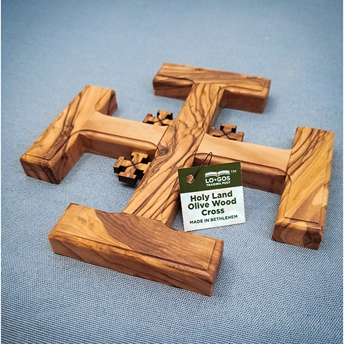 Jerusalem Wall Cross - Large with decorative tag