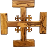 Holy Land Olive Wood Jerusalem Wall Cross - Large - Logos Trading Post, Christian Gift