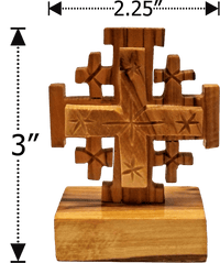 Holy Land Olive Wood Cross on Stand - Large - Logos Trading Post, Christian Gift