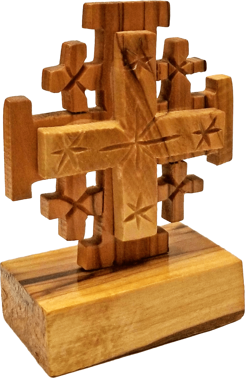 Jerusalem Cross on a Stand - Large tilted right