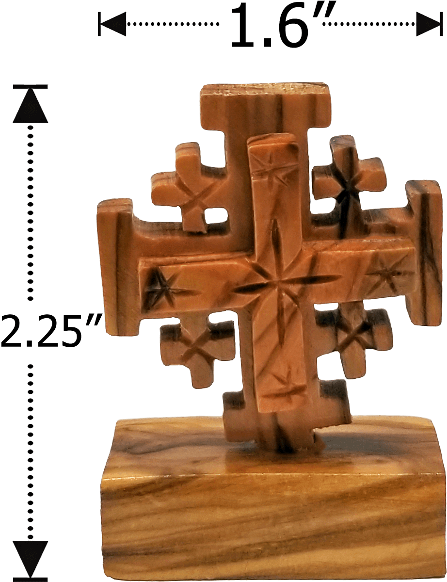 Jerusalem Cross on a Stand - Small Dimensions