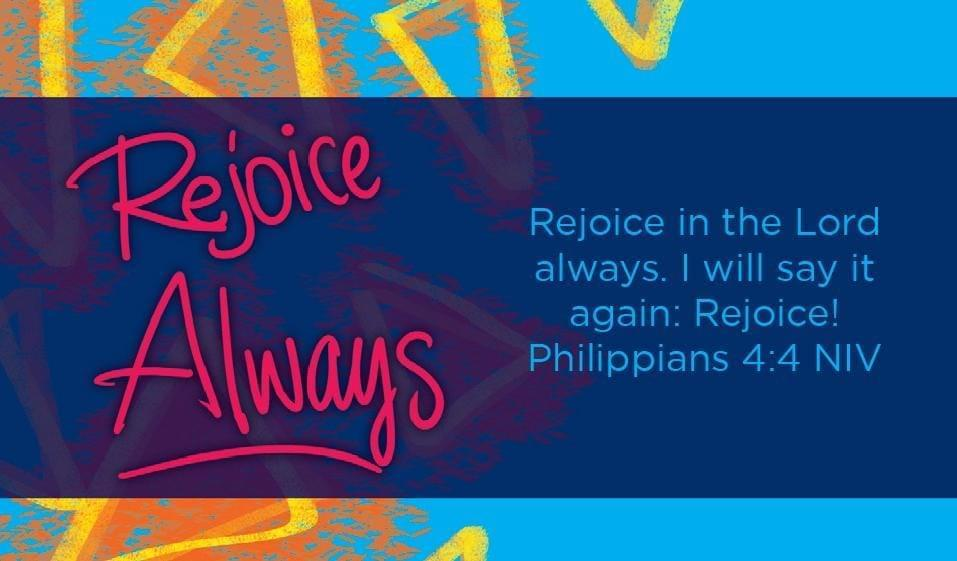 Children's Pass Along Scripture Cards - Rejoice Always, Pack of 25 - Logos Trading Post, Christian Gift