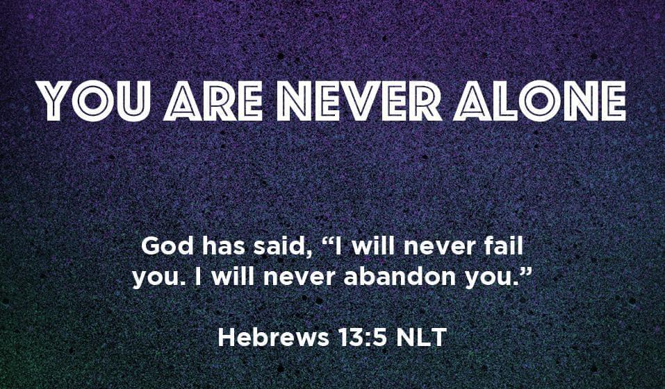 Children's Pass Along Scripture Cards - You Are Never Alone, Pack of 25 - Logos Trading Post, Christian Gift