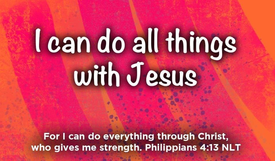 Children's Pass Along Scripture Cards - I Can Do All Things With Jesus, Pack of 25 - Logos Trading Post, Christian Gift