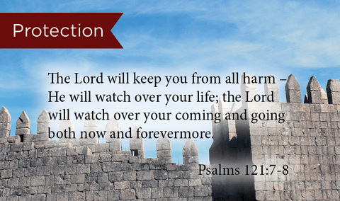 Protection, Psalms 121:7-8, Pass Along Scripture Cards, Pack 25