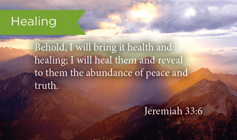Pass Along Scripture Cards, Healing, Jeremiah 33:6, Pack 25 - Logos Trading Post, Christian Gift