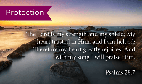 Protection, Psalms 28:, Pass Around Scripture Cards, Pack 25