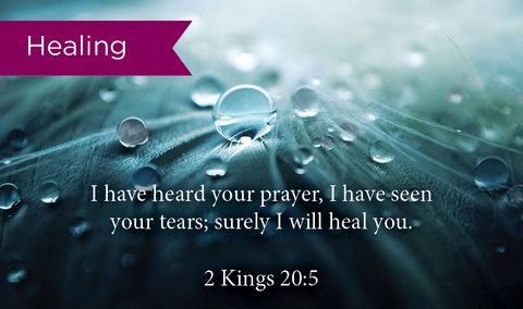 Pass Along Scripture Cards, Healing, Kings 20:5, Pack 25 - Logos Trading Post, Christian Gift