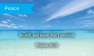 Pass Along Scripture Cards, Peace, Be Still, Psalms 46:10, Pack 25 - Logos Trading Post, Christian Gift