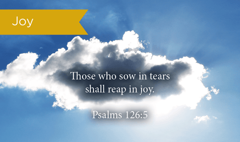 Pass Along Scripture Cards, Joy, Psalms 126:5, Pack 25 - Logos Trading Post, Christian Gift