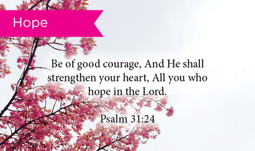 Pass Along Scripture Cards, Courage, Psalms 31:24, Pack 25 - Logos Trading Post, Christian Gift