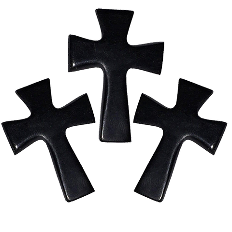Holy Land Hand-Carved Serpentine Stone Pocket Crosses, Pack of 3