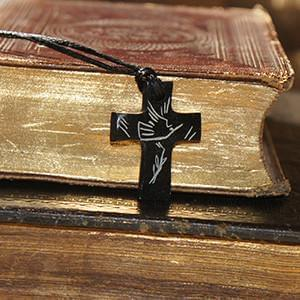 Cross Necklace - The Dove & The Olive Branch - Logos Trading Post, Christian Gift