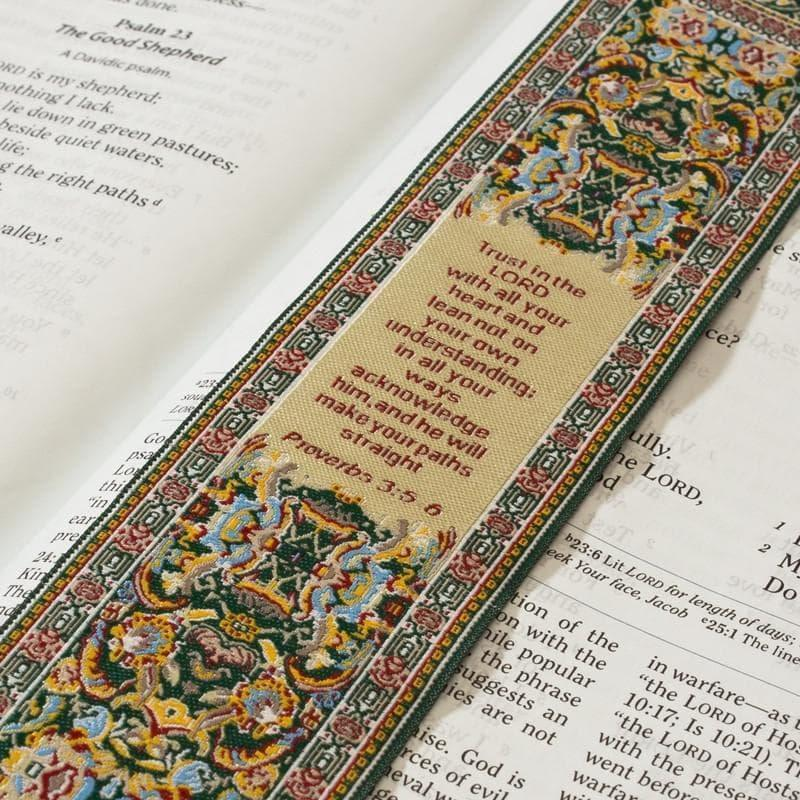 Lo•gos BookMark Proverbs 3:5-6 - Yellow - Logos Trading Post, Christian Gift