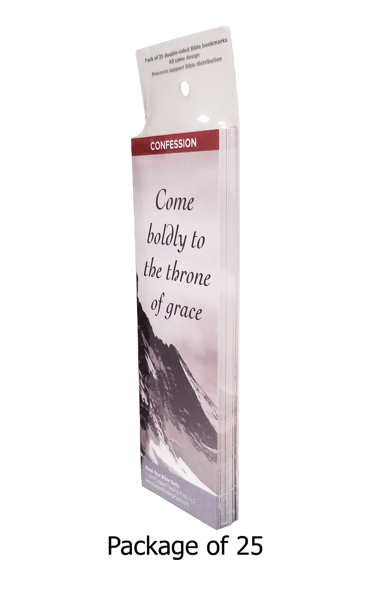 Come Boldly to the Throne of Grace Bookmarks, Pack of 25 - Logos Trading Post, Christian Gift