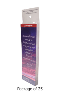 If We Confess Our Sins, He is Faithful Bookmarks, Pack of 25 - Logos Trading Post, Christian Gift