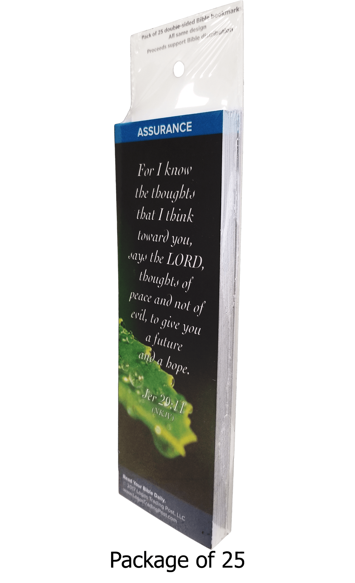 For I Know the Thoughts That I Think Toward You Says the Lord Bookmarks, Pack of 25 - Logos Trading Post, Christian Gift