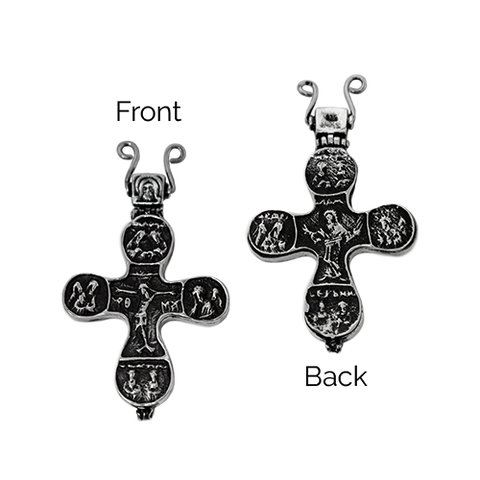 Reliquary Cross Pectoral, Large, Sterling Silver