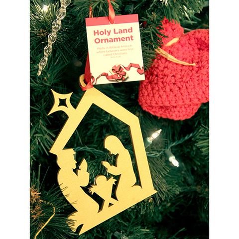 Tree of Life Ornament, Holy Land Nativity Stable