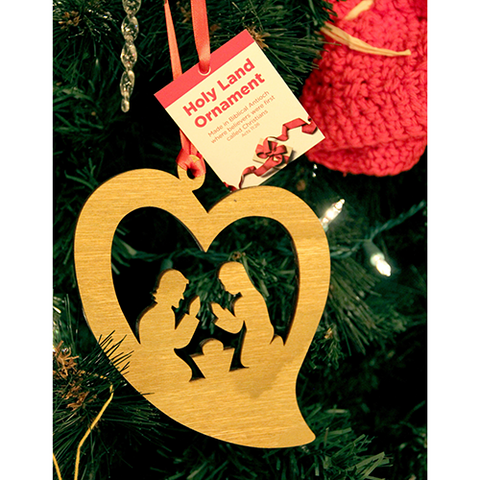Holy Land Nativity Heart Tree of Life Ornament