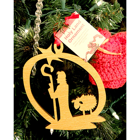 Tree of Life Ornament, Holy Land Shepherd and Star