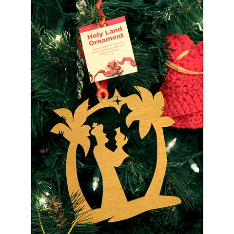 Holy Land Wiseman and Star Tree of Life Ornament