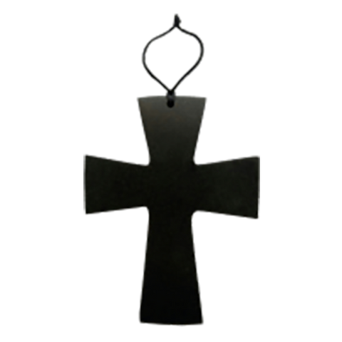 Hanging Wall Cross: Hand Carved Serpentine Stone